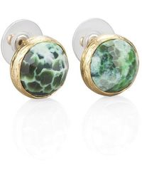 Toosis Green Agat Stud Earrings - Lyst