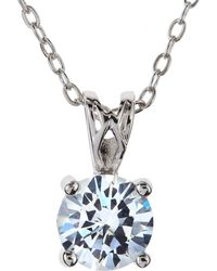 CZ by Kenneth Jay Lane - Cubic Zirconia Drop Necklace - Lyst