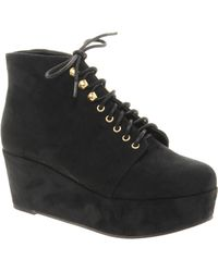 Asos Asos Vincent Flatform Ankle Boots - Lyst