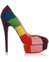 Charlotte Olympia Priscilla in Stripes multicolor - Lyst