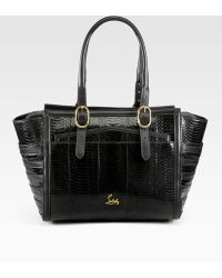 Christian Louboutin | Farida Snakeskin Top Handle Bag | Lyst