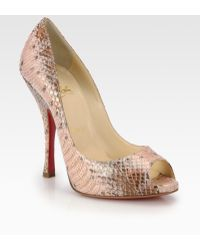 Christian Louboutin Marilyn Water-snake Pumps - Lyst