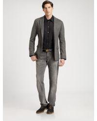 Dolce & Gabbana Two Button Tweed Blazer - Lyst
