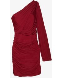 Halston Heritage Preorder One Sleeve Pleated Dress - Lyst