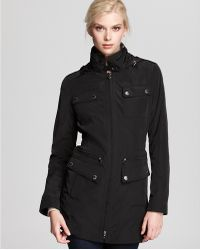 Laundry by Shelli Segal Cinched Waist Anorak Raincoat - Lyst