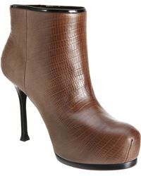 Saint Laurent Tribtoo Ankle Boot - Lyst