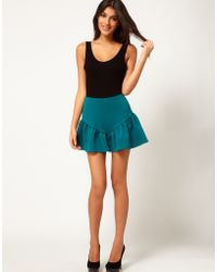 ASOS Collection Asos Mini Skirt with Peplum Hem - Lyst