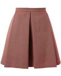 Kenzo Woven Technopleated Skirt pink - Lyst