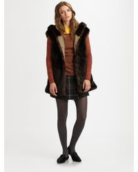 Thakoon Addition Hooded Faux Fur Vest - Lyst
