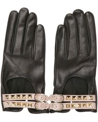 Valentino Rockstud Nappa Leather Gloves - Lyst