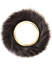 Viktor & Rolf Fur Bangle Black - Lyst