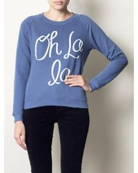 Zoe Karssen Oh La La Sweat Top - Lyst