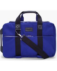 Kris Van Assche - Small Blue Rolling Suitcase with Laptop Case - Lyst