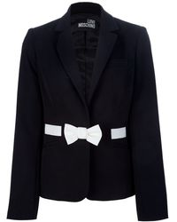Love Moschino Bow Detail Blazer - Lyst