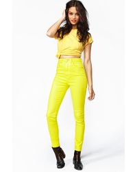 Nasty Gal The Kink Highrise Jean Acid - Lyst