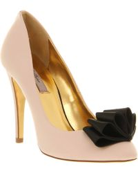 Ted Baker Mayter Cort Shoe Black Nude Satin - Lyst
