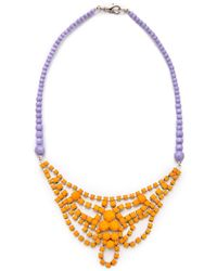 Tom Binns Bicolor Necklace with Crystal Pearl - Lyst
