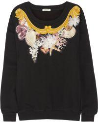 Emma Cook   Embellished Cotton Sweatshirt   Lyst