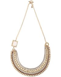 Martine Wester Gypsy Queen Chain Bib Statement Necklace - Lyst