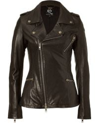 McQ by Alexander McQueen Black Biker Leather Jacket - Lyst