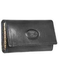 Robe Di Firenze - Black Calf Leather Key Holder - Lyst