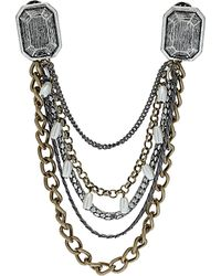 Topshop Chunky Chain Collar Tips - Lyst