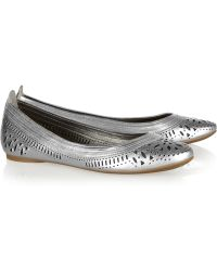 Belle By Sigerson Morrison - Andromeda Cutout Leather Ballet Flats - Lyst