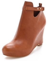 Elizabeth and James - Psych Wedge Booties - Lyst