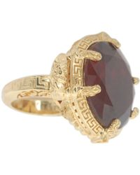 Versace Ring with Diamond - Lyst