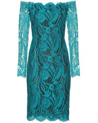 Emilio Pucci Chantilly Lace Off The Shoulder Dress - Lyst