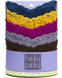 Hanky Panky Original Rise Thongs Signature Lace 5pack - Lyst