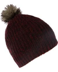 Label Lab - Knitted Hat with Fur Pom Pom - Lyst