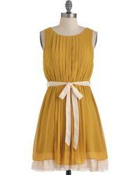 ModCloth Pleats Love and Harmony Dress - Lyst