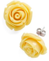 ModCloth Retro Rosie Earrings in Banana - Lyst
