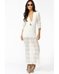 Nasty Gal Birkin Lace Maxi Dress - Lyst
