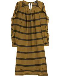 Sonia Rykiel Striped Silk Crepe Dress - Lyst