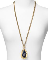 T Tahari - Soho Chic Worn Gold Pendant Necklace 32 - Lyst