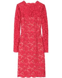 Valentino Chantilly Lace Overlay Dress - Lyst