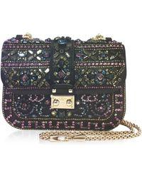 Valentino Embellished Glam Flap Shoulder Bag - Lyst