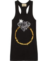 Wildfox White Label - Diamond Ring Sequined Cotton Tank - Lyst