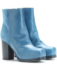 Acne Rise Leather Ankle Boots - Lyst