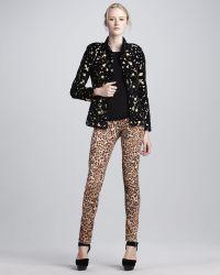 Alice + Olivia Jaguar print Skinny Jeans - Lyst