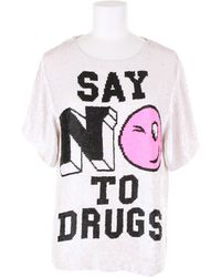Ashish Handcrafted Sequin Top with A Message Say No To Drugs - Lyst