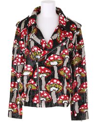 Ashish Handcrafted Sequin Biker Jacket with Mushroom Pattern - Lyst
