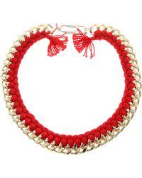 Aurelie Bidermann Do Brasil Thread and Chain Necklace - Lyst