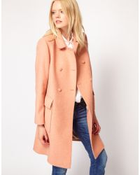 Boutique by jaeger Louise Princess Coat in Pink   Lyst