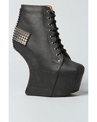 Jeffrey Campbell The Holy Shoe in Black and Silver - Lyst