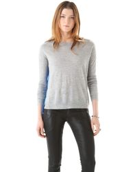 Mason by Michelle Mason Cashmere Sweater with Silk Panel - Lyst