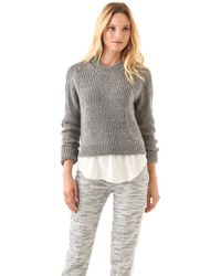 3.1 Phillip Lim Cropped Pullover Sweater - Lyst