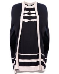 Alice By Temperley - Cabaret Knitted Cotton Blend Cape - Lyst